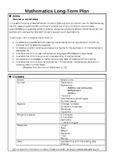 Mathematics Long Term Plan for 5th Class EDITABLE