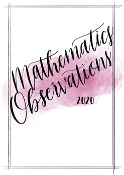 Mathematics Observations Title Page 2020
