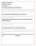 Mathematics Parent Survey