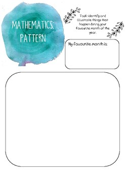 Mathematics (Pattern) printable template