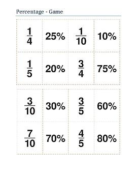 Mathematics - Percentage game