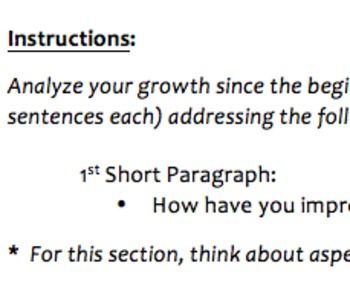 Mathematics Portfolio Writing Assignment
