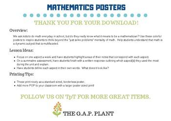 Mathematics Posters