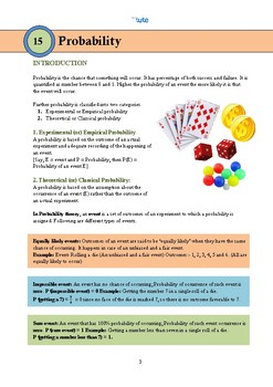 Mathematics | Probability | Assessments and documents