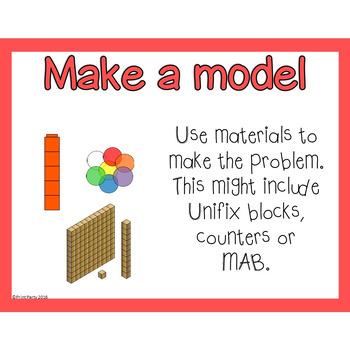 Mathematics Problem Solving Strategy Posters | Task Cards