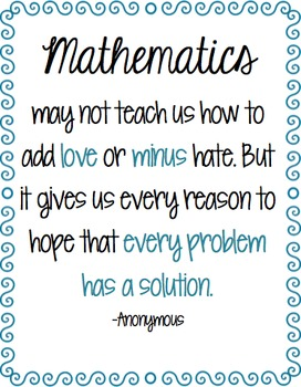 Mathematics Quote
