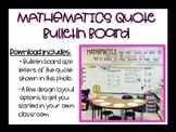 Mathematics Quote Bulletin Board Set