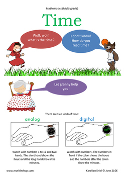 Mathematics: Red Riding Hood's Analog and Digital time