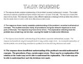 Mathematics Rubric  for Task Activities