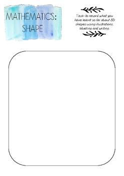 Mathematics (Shape) printable template