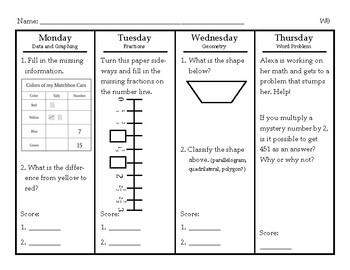 Mathematics Spiral Review-Grade 3