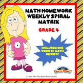 Math Homework Weekly Spiral Matrix
