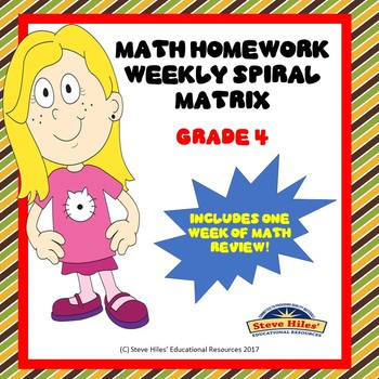 Mathematics Review: Math Spiral Weekly Matrix