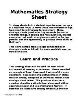 Mathematics Strategies: Learn and Practice