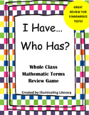 Mathematics Terms: I Have… Who Has? Review Game
