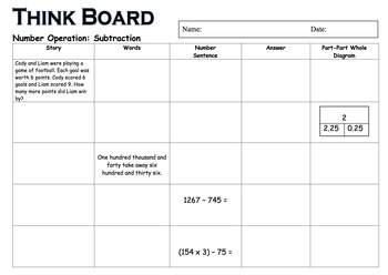 Mathematics Think Board Package