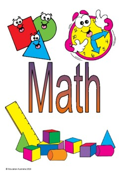 Mathematics Title Pages - Different Designs - Cover Pages Maths Math