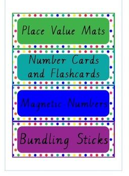 Mathematics Trolley Labels