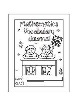 Mathematics Vocabulary Journal - Middle School