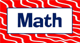 Mathematics Vocabulary Word Wall & Math Flash Cards CCSS K-5