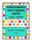 Mathematics Word Splash Cards - Large