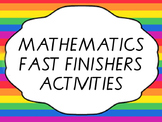 Mathematics early finisher activities