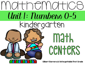 Mathematics for Kindergarten {Unit 1: Numbers 0 to 5}