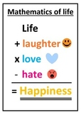 Mathematics of Life Classroom Poster