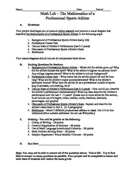 Mathematics of a Professional Sports Athlete (Math Project)