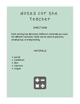 Mathematics small group games