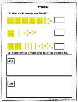 Mathématiques Blocs de base dix