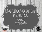 Mathématiques // Cartes à tâches: Lire l'heure et les minutes