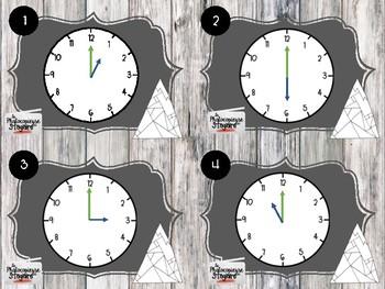 Mathématiques // Cartes à tâches: Lire l'heure juste