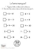 Mathématiques // Exercices: Terme manquant