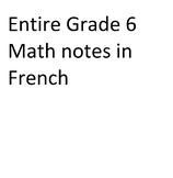 Math in French grade 6 (mathématiques en français niveau 6)