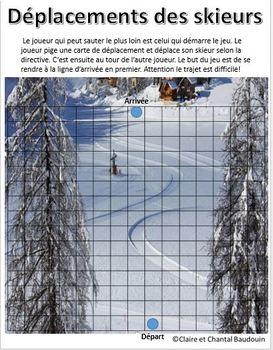 Mathématiques: Orientation spatiale: Déplacements d'hiver jeu