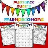 Mathématiques - Puissance Quatre (multiplications)/ Connect Four