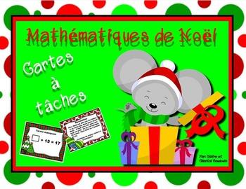 Mathématiques de Noël  Cartes à tâches