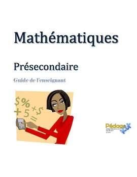 Mathématiques présecondaire année complète