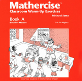 Mathercise™ Book A: Pre-Algebra Classroom Warm-Up Exercise