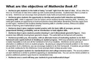 Mathercise™ Book A: Pre-Algebra Classroom Warm-Up Exercises A37-A50