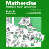 Mathercise™ Book B: Pre-Algebra, Algebra, 1st year HS Math Exercises B25-B36