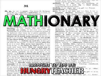 Mathionary by Hungry Teacher