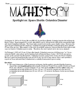 Space Shuttle Columbia: Geometry: Area, Circumference, Surface Area, Volume
