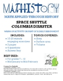 Space Shuttle Columbia: Geometry: Area, Circumference, Sur