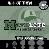 Mathlete Sports Tasks -- ALL OF THEM -- Grades (3-12) -- 39+ Math Activities