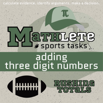 Mathlete - Adding Three Digit Numbers - Football - Rushing Totals