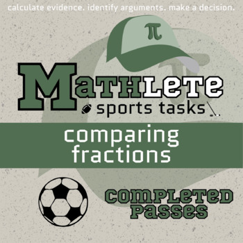 Mathlete - Comparing Fractions - Soccer - Completed Passes