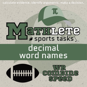 Mathlete - Decimal Word Names - Football - Combine WR Speed