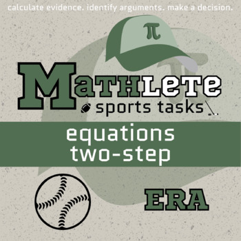 Mathlete - Equations Two-Step - Baseball - Earned Run Average